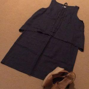 J. Jill tiered linen dress